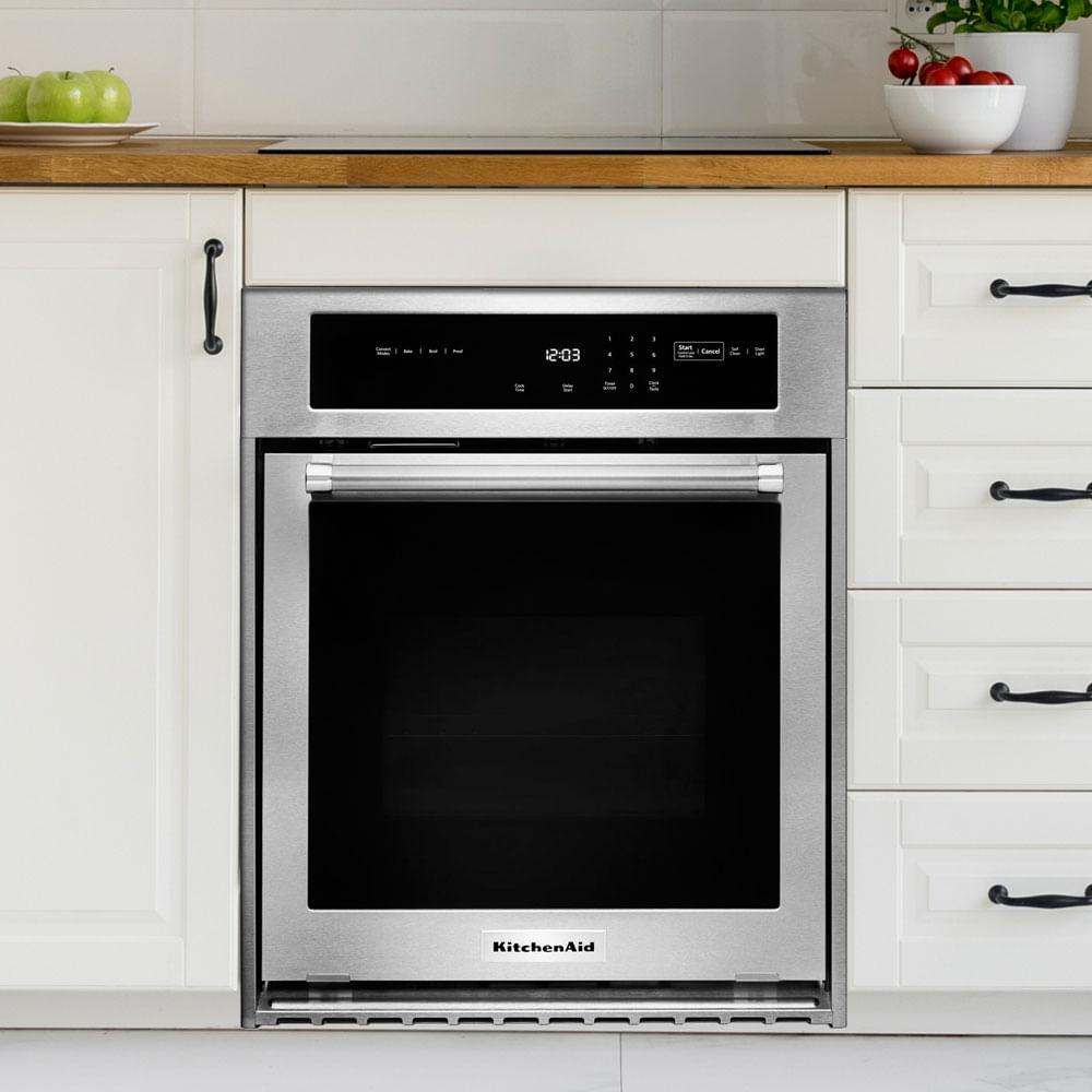 Horno KitchenAid KOSC504ESS eléctrico de convección con panel de control digital táctil-touch con 4 velocidades y pantalla LCD.
